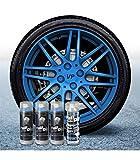 Pack Llantas Vinilo LIQUIDO Full Dip 3 Sprays Azul Metalizado Brillo