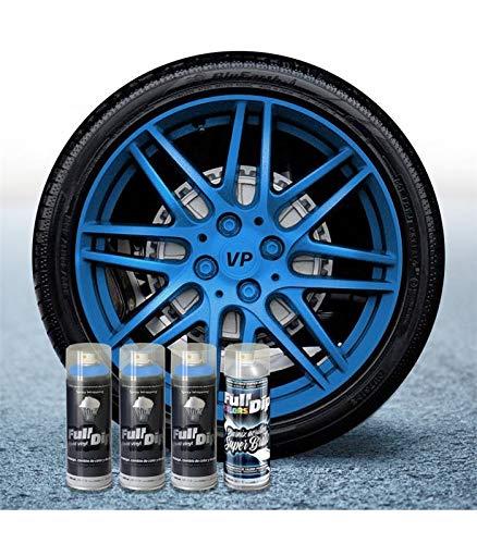 AutoFullCar Pack 3 Sprays Full Dip Azul Metalizado Brillo