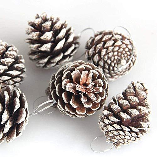 Dongbin Dekorative Tannenzapfen 9pendentifs Weihnachtsbaum, Apfel Weihnachtsdekoration natürliche Kiefer, 5 cm, Apfelglocke Zubehör Kiefer
