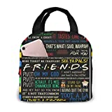 Friends Tv-Show Quotes Portable Insulated Tote Lunch Box Lunch Bag For Women Men Boys Girls With Work Picnic Travel