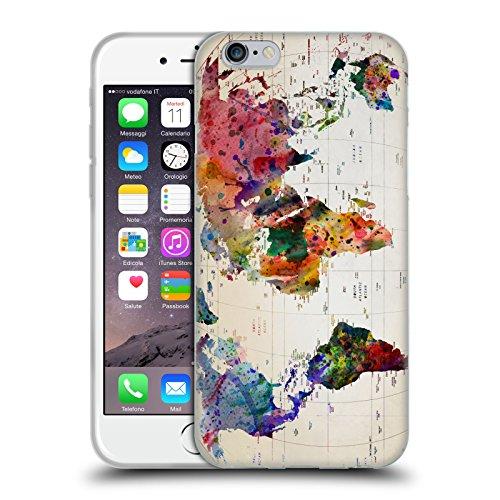 Head Case Designs Licenza Ufficiale Mark Ashkenazi Mappa del Mondo Cultura Pop Cover in Morbido Gel Compatibile con Apple iPhone 6 / iPhone 6s