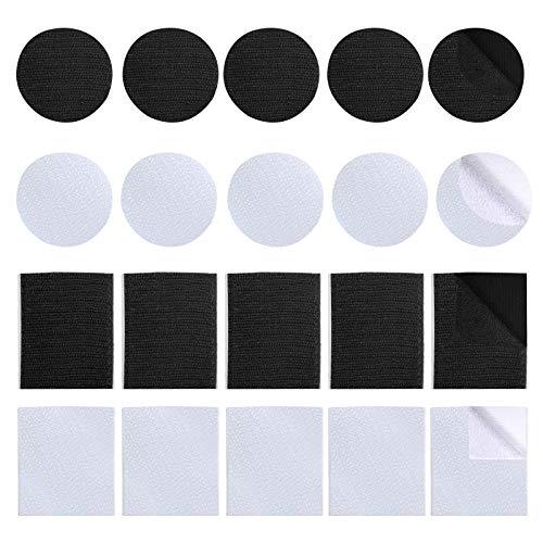 20 pezzi Autoadesivo Nastro Adesivo,nastro adesivo biadesivo extra forte per divano biadesivo nastro adesivo ad anello per cucire su gancio e anello per tessuto per artigianato fai-da-te in casa