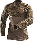 AKARMY Men's Tactical Military Combat Shirt Long Sleeve Army Rapid Assualt Camo Shirt with Zipper Pocket 112 CP