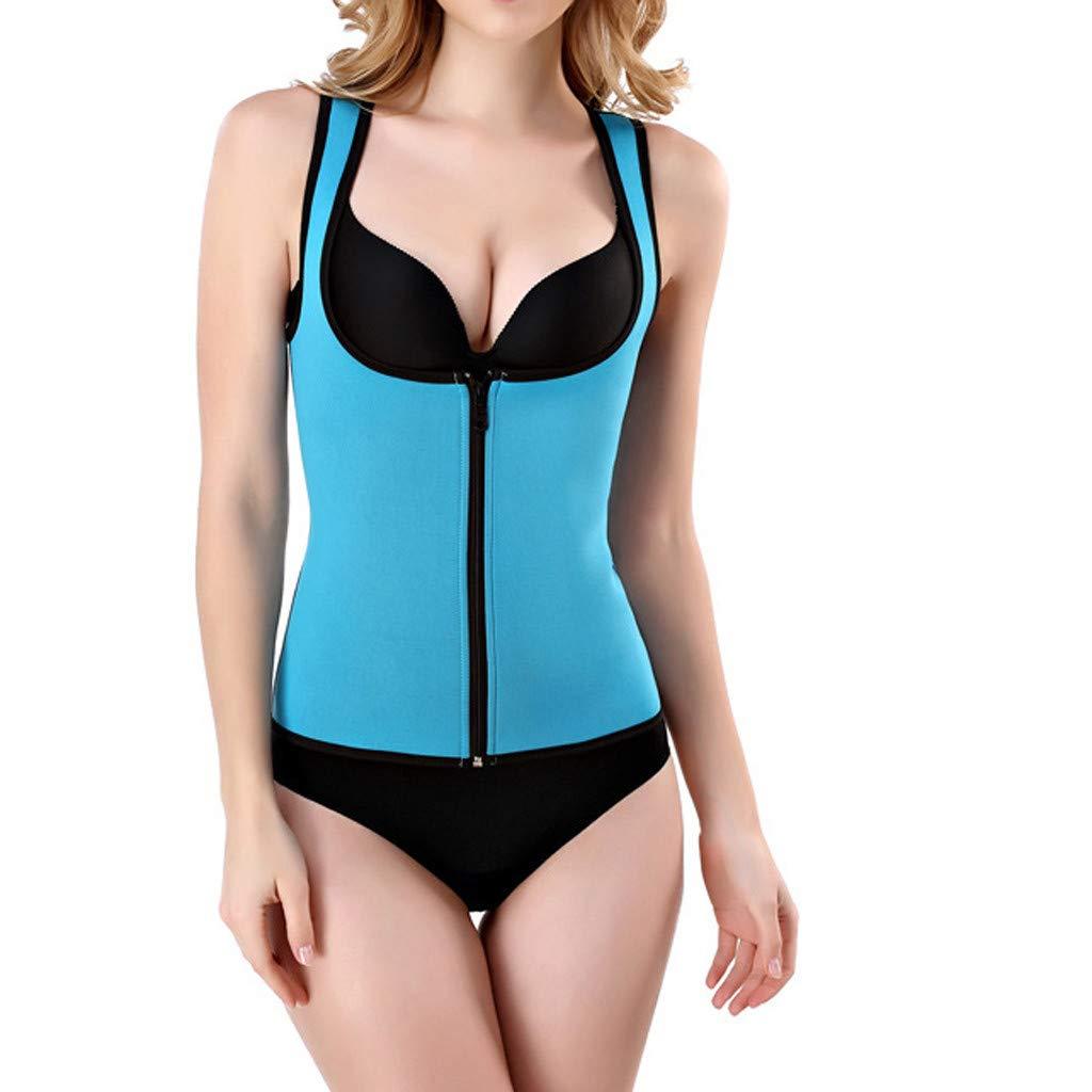 HJuyYuah Zipper Sportswear for Men Women Vests Underwear Body Beauty Body Shaping Clothes
