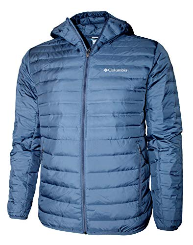 Columbia Lightweight Men's McKay Lake Hooded Down Jacket (Dark Mount, S)
