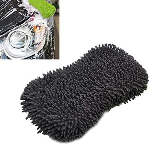 RK-HYTQWR Bloque de Esponja de Limpieza de Lavado de Autos Absorbente Grande Lavado de Microfibra de Chenilla Premium, Esponja de Lavado, Gris