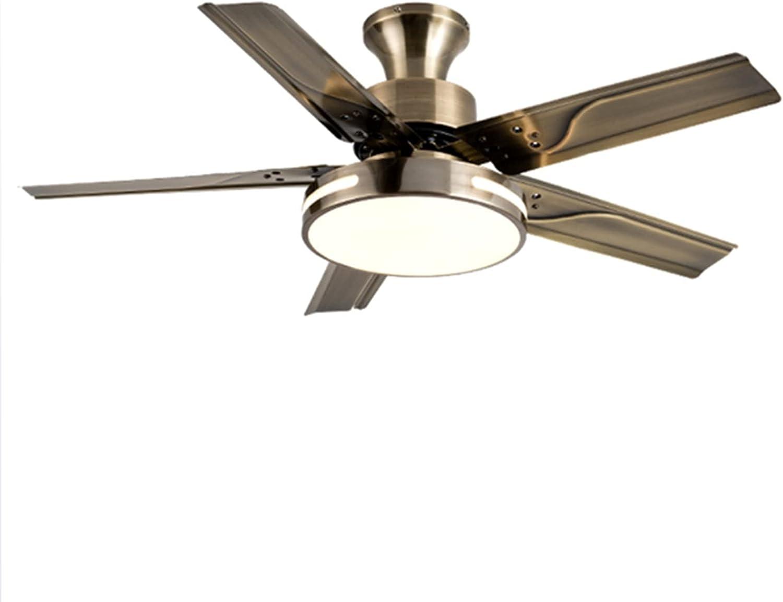 LANFENG Luces de Ventilador de Techo 5 Cuchillas ABS 3 velocidades LED de Ventilador de Techo Remoto Interior para Cocina Interior y Sala de Estar
