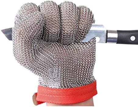 ThreeH Stainless Steel Gloves Mesh Cut Proof Stab Resistant Safety Gloves for Cutting Slicing product image