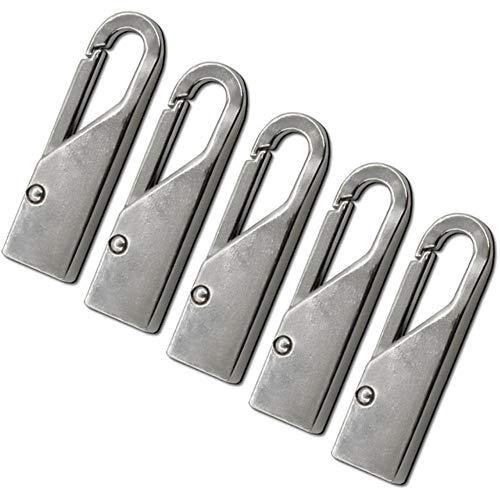 5 Stück Fashion Zipper Slider Instant Universal Repair Kit Ersatz für Broken Buckle Reisetasche Koffer Zelt Rucksack Reißverschluss, D.