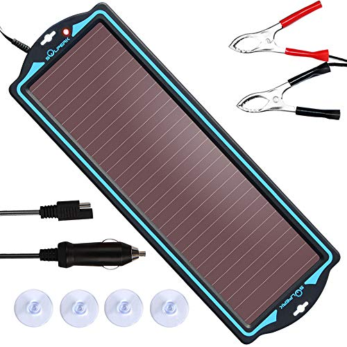SOLPERK 12V Solar Panel,Solar trickle Charger,Solar Battery Charger and Maintainer,Suitable for Automotive, Motorcycle, Boat, ATV,Marine, RV, Trailer, Powersports, Snowmobile, etc. (1.8W Amorphous)