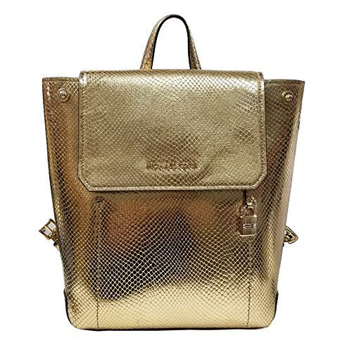 """Persimmon Pebbled leather & Gold tone hardware Flap closure with snap lock Interior: 1 slip pocket; Unlined contrast color soft leather Top handle & adjustable straps 10"""" (L) X 12.5""""(H) X 4""""(D)"""