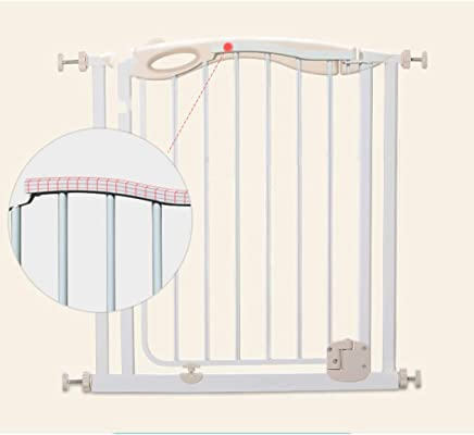 LELEGuardrail Child Safety Door Treasure Barrier Fence Railing Baby Fence Free Punching  Color White  Size Extension cm