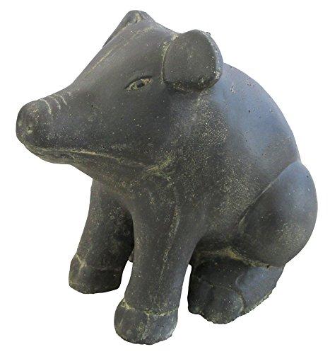 STONE art & more Schwein, sitzend, 42 cm, Steinfigur, Steinguss, frostfest