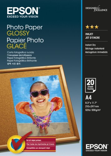 Epson C13S042538 Papier Photo A4 20 feuille 200gr brillant