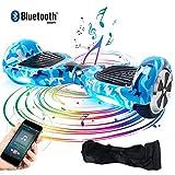 Windgoo Hoverboard Bluetooth, 6,5 Pouces Overboard Électrique, Auto-Équilibrage Tout Terrain Board pour Enfants et Adultes Cadeaux