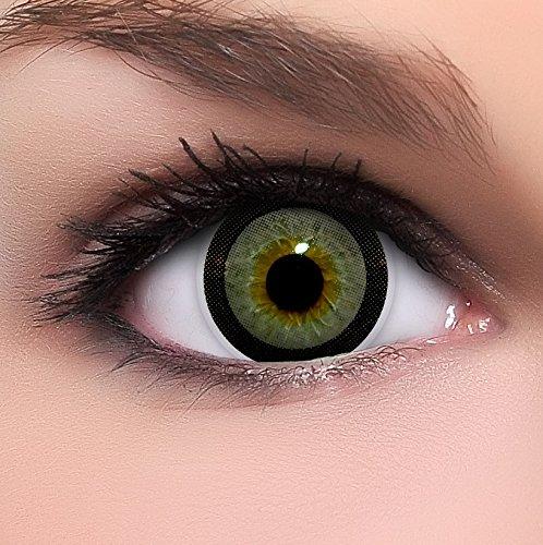 Circle Lenses graue Candy Grey ohne Stärke + Behälter I 15mm I weich I 3 Monate anwendbar