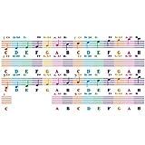 Nrpfell Letras Enrolladas a Mano 88 Teclas Pegatina de Piano ElectróNico Personal de Color 61 Pegati...