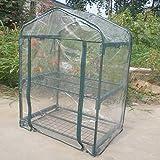 Atyhao Invernadero portátil Emergente instantáneo Configuración rápida Interior Planta Jardinería Toldo Verde (No Incluye el Soporte de Hierro)