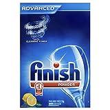 Finish Powder Dishwasher Detergent, Lemon Fresh Scent, 75 oz