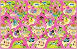 """Rollmatz Kids Play Mat - Versatile Waterproof Children's Playmat for Boys & Girls Bedrooms & Playrooms - Great for Playing with Toys - Indoor & Outdoor - Large Size 79"""" x 47'' - Candy Land Design"""