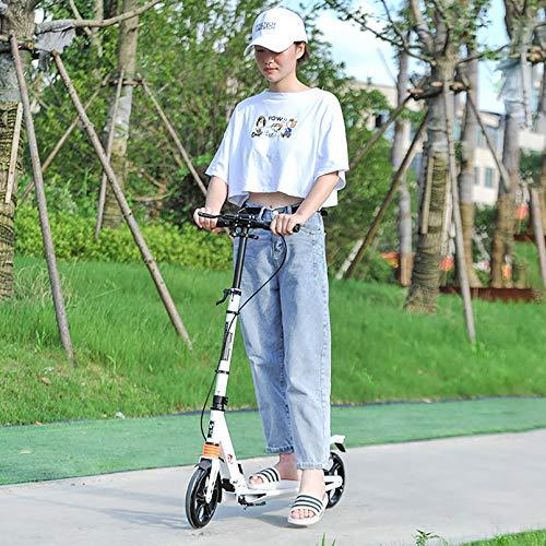 LIYANJJ Pro City Street Scooter, Scooter Plegable con Ajuste de Altura Flexible, Doble Freno, Barra en T, Manillar, Scooter portátil, Adolescentes