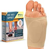 DALIVA Compression Foot Arch Support - Soft Gel Pad Cushions - Arch Sleeves for Flat Feet - Plantar Fasciitis Sleeves - Foot Pain Relief