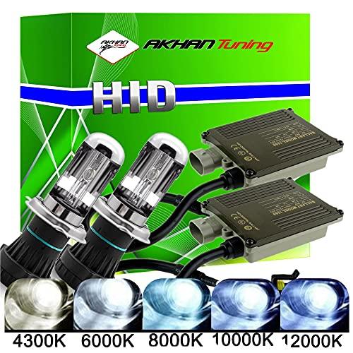 Akhan Digital 9-32 v 35W cANBUS h4 bixenon kit kit d'extension 10000 l/h + hID k avec Ballast électronique, Lampe et Xenon brûleur Montage matériau sans Message d'erreur, Pas de Scintillement
