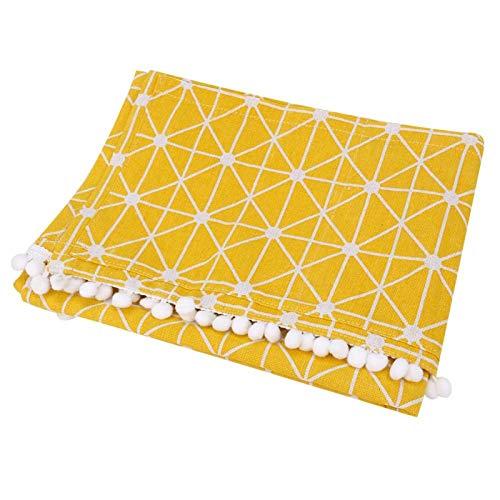 Cubierta-Protector de Cubierta a Prueba de Polvo de Lino de algodón Multiusos para Lavadora de frigorífico(70 * 170cm 67x28inch)