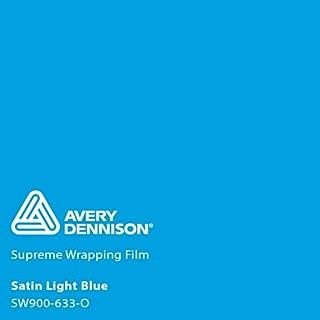 Avery SW900 Satin Light Blue | 633-O | Vinyl CAR WRAP Film (Sample 2.5in x 4in)