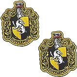 2 piezas de Harry Potter House of Hufflepuff House Crest Patch Hook and Loop Back 10 x 8 cm a todo color parches apliques para abrigo, chaqueta, gorra, mochila