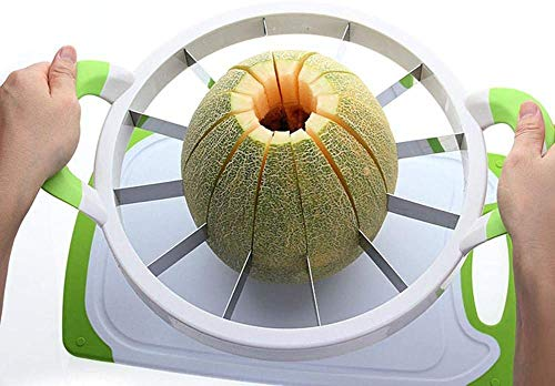 Cortador de sandía 15.7 grande acero inoxidable fruta cantaloup melón cortador pelador servidor para el hogar
