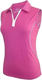 Monterey Club Ladies Dry Swing Dotty Contrast Sleeveless Shirt #2449