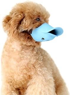 Bozales para perros Gulunmun Bozal para perros de malla con correa superior para perros pequeños, medianos y grandes, evita mordeduras azules, ladridos y masticación, (circunferencia de alambre mediano: 16-18 cm)