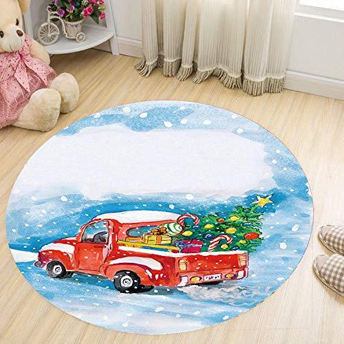 IKEA tapijt, rond, voor slaapkamer, wasbaar, antislip, voor auto, sneeuw, rond, 100 cm, wit
