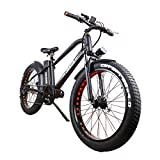 Super Cruiser 26'' Electric Bicycle 6 Speed Fat Tire Ebike with 500W Brushless Motor and 48V 10AH Lithium Battery