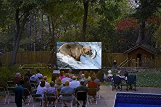 QuikScreen Complete Theater Kit! 16' Projection Screen with HD Optoma 1080p Projector, Sound System & Blu-Ray Player w/WiFi (BT-500)