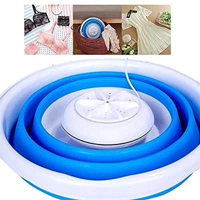 BURAN Portable Washing Machine Foldable Mini Washing Machine Rotating Ultrasonic Turbines Washer USB Charging
