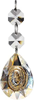 Fushing 10Pcs Chandelier Crystals, Teardrop Chandelier Crystal Pendants Glass Pendants Beads (38mm, Clear)