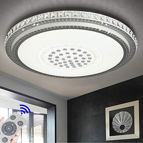 Deckenleuchte LED 72W Runde Deckenlampe Mit Einstellbarer Temperaturänderung und Farbe für Flur Wohnzimmer Schlafzimmer Küche Büro (Runde-72W Dimmbar)