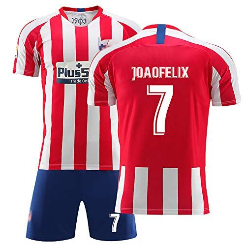 FUNBS Children's Madrid Soccer Clothing Trajes, Kopke Griezmann, 20-21 Juego de Juegos para el hogar Jersey, Sudadera de fútbol de Equipo, Fans Camiseta 7#-18