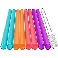 Razita Slyire Extra Wide Reusable Smoothie Straws, 10 Pieces