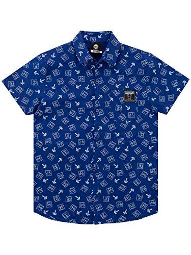Minecraft Jungen Hemd Blau 134