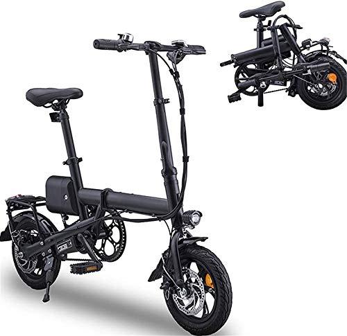 Bicicleta eléctrica Bicicleta eléctrica plegable ligero plegable compacta E-bici, ruedas de 12...