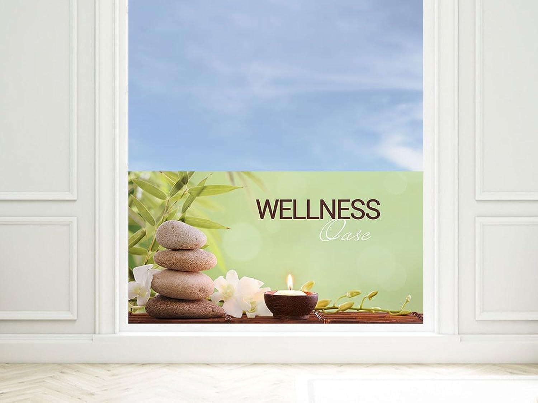 GRAZDesign GRAZDesign GRAZDesign Fensterfolie Badezimmer - Klebefolie Fenster Wellness Oase - Milchglasfolie Fenster Lounge - Fensterschutzfolie Grün   100x57cm   220004_100x57_GB_GS B01N0LM0NE b97f06