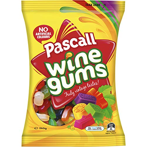 Pascall Wine Gums Candy 260 Gram Bag