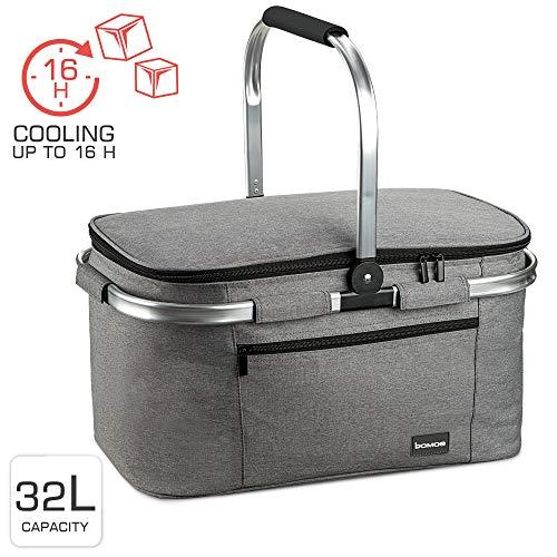 bomoe koeltas picknickmand opvouwbaar IceBreezer K47-47x27x26 cm - 32 liter- perfect voor barbecues of boodschappen