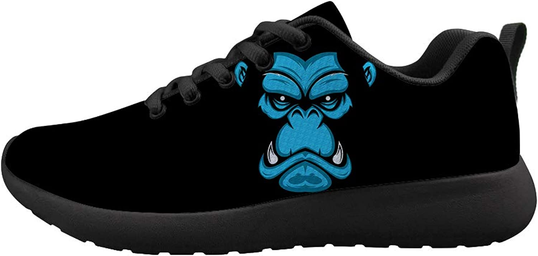 Owaheson Cushioning Sneaker Trail Running shoes Mens Womens Vicious Gorilla Face