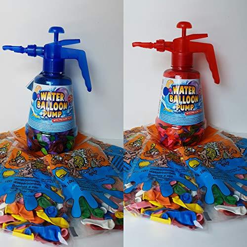 Lhh 2 STK.Wasserballonpumpe Wasserbomben-Füller Wasserballon Pumpe inkl. Wasserballons 700 Stück Wasserbombe Pool Badespaß