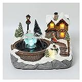 GDYJP Casa di Neve Casa di Natale Casa Luminosa può spruzzare Acqua Ornamenti Natalizi all'anno Capodanno (Color : Snowman, Dimensione : 1 PCS)