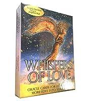 Whispers of Love EGuideブックタロットカードゲームの占い運命予測カードゲームを備えた完全英語版のOracleカードデッキ